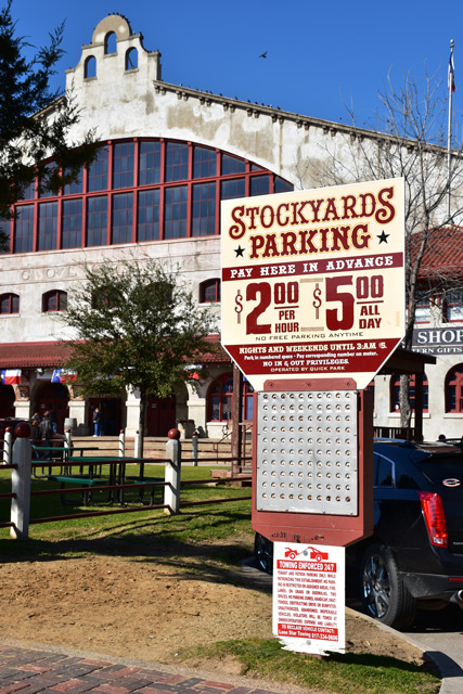 Parking in the Stockyards Parking in Fort Worth